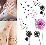 dandelion Body Art Temporary Removable Tattoo Stickers Dandelion Sticker Tattoo - FashionDancing