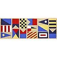 Area Rugs - Nautical Flags Rug - 27 X 72 Runner - Indoor Outdoor Rug - Signal Flags Rug