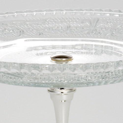 Konfektschale Glas Metall 11 cm Dekoschale Servierschale Sch/üssel Pralinenschale Anbietschale