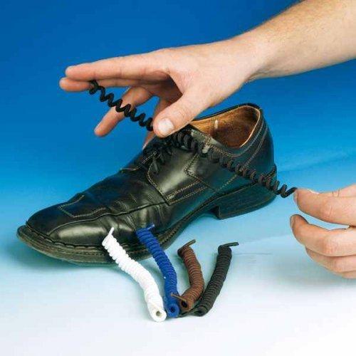 elastisch Schnürsenkel Schnürband weiß Schnürsenkel spiralenförmig Schnürriemen Schuhband Schuhbandel und 1xdq1pS