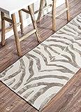 nuLOOM Zebra Hand Tufted Plush Wool Area