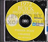 1972 Buick CD Repair Shop Manual & Body Manual, all models