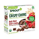 Sprout Organic Baby Food, Sprout Crispy Chews Organic Toddler Snacks, Red Berry & Beet Crispy Chews Fruit Snack, 0.63 Ounce (Box of 5), Gluten Free, Made with Whole Grains and Real Fruits & Vegetables