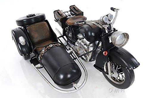 Old Modern Handicrafts AJ042 Black Vintage Motorcycle