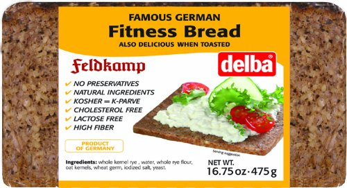 Fitness Bread - Delba Famous German Fitness Bread, 16.75 Ounce (Pack of 12)