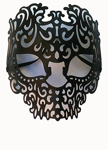 Momentum Brands Black Venetian Skull Mask - Adult Size - Made Of Plastic by Momentum Brands