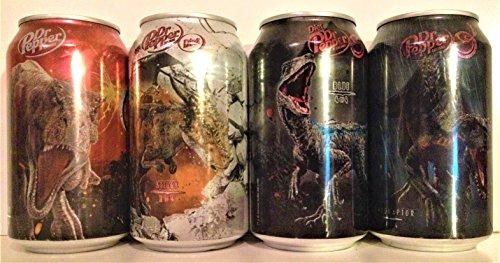 Jurassic World: Fallen Kingdom Dr. Pepper 12 oz Can Set SEALED