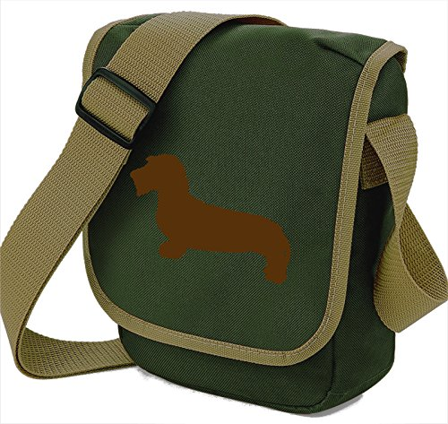 Haired Reporter Wirehaired Sausage Hound Brown Of Gift Silhouette Shoulder Olive Wire Choice Bag Dog Dachshund Colours 4Yrwq4a