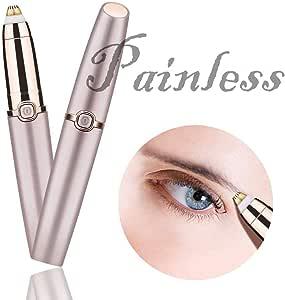 Depiladora De Cejas - Mini Afeitadora Eléctrica para Afeitar Cejas con Luz Incorporada para Mujer Chica Facial Portátil: Amazon.es: Hogar