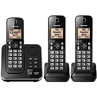 Panasonic KX-TGC363B / KX-TG633SK Dect 6.0 3 Handset Landline Telephone (Certified Refurbished) (KX-TGC362B +1)