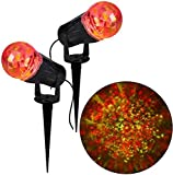 10 In Projection Kaleidoscope LED RRY Light Stake (2-Pack) Outdoor Holiday Decor