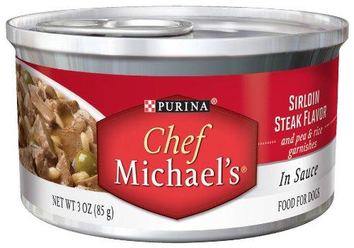 Chef Michael's Sirloin Steak Flavor, 3-Ounce (Pack of 24), My Pet Supplies
