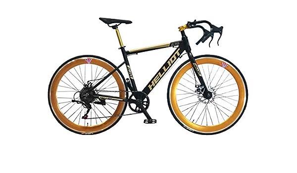 Helliot Bikes Goa 7.0 Negra Bicicleta de Carretera, Adultos Unisex ...
