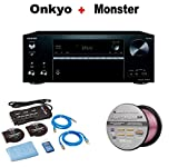Onkyo Powerful Audio & Video Component Receiver Black (TX-NR676) + Monster Home Theater Accessory Bundle + Monster - Platinum XP 50' Compact Speaker Cable Bundle