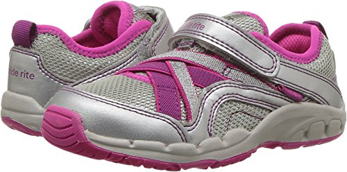 (Stride Rite Baby Girl's Made 2 Play Nicole (Toddler/Little Kid) Silver 12 Little Kid XW XW)