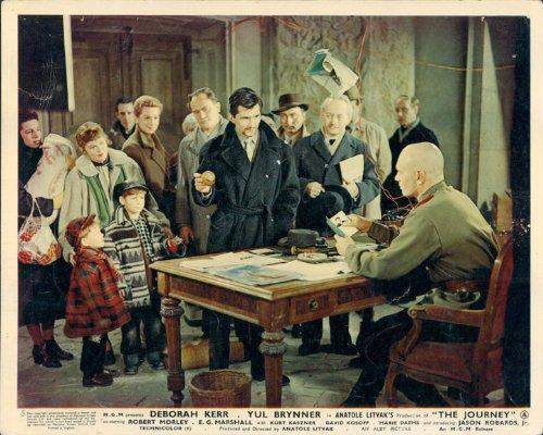 THE JOURNEY YUL BRYNNER DEBORAH KERR E.G. MARSHALL ORIGINAL LOBBY CARD #5 from Silverscreen
