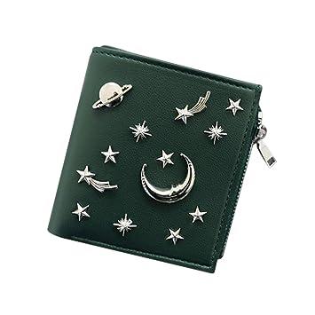 Majome 1 PC Mujer Carteras Monedero Star Moon Cuero PU Moda para Dinero Tarjetas de Monedas: Amazon.es: Equipaje