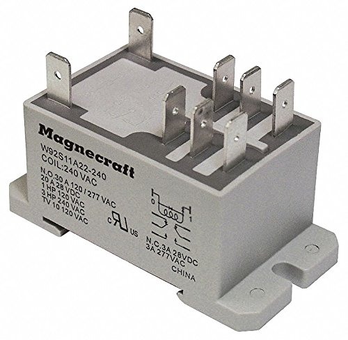 - Schneider Electric 12VDC, 8-Pin Bottom Flange, Din Rail Enclosed Power Relay; Electrical Connection: 1/4