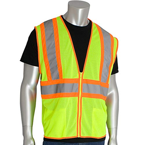 - Worktex Safety Economy Class 2 Two-Tone Mesh Safety Vest, Yellow/Lime, Size L, 5 per Pack