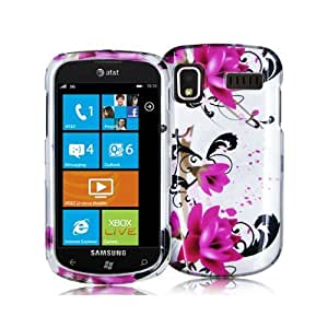SAMSUNG FOCUS I917 2D RED FLOWERS CASE