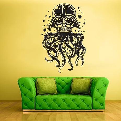 Wall Vinyl Sticker Decals Decor Tentacles Octopus Deep Sea Ocean Fish Scuba  Dart Vader Mask (