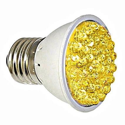 rubylux Amarillo Ámbar Bombilla LED de Alta Intensidad – 570 Nm a 590 nm Tamaño pequeño