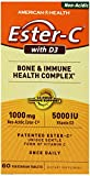 American Health Ester-c with D3 Bone and Immune Health Complex – 60 Tablets, 60 Count Review