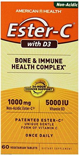 American Health Ester-c with D3 Bone and Immune Health Complex - 60 Tablets, 60 Count