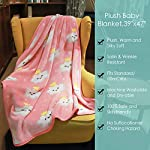 TILLYOU-Micro-Fleece-Plush-Soft-Baby-Blanket-Allergy-Free-Fluffy-Warm-Toddler-BedCrib-Blanket-Overized-Lightweight-Flannel-Daycare-Nap-BlanketKids-SleepingTummy-Time-Blanket-39×47-Pink-Cloud