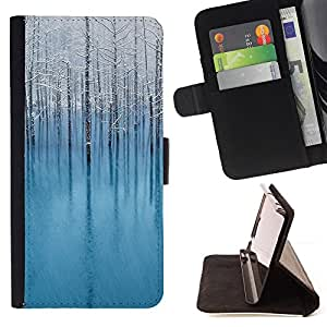 For Apple Apple iPhone 4 / iPhone 4S,S-type Naturaleza Hermosa Forrest Verde 133- Dibujo PU billetera de cuero Funda Case Caso de la piel de la bolsa protectora
