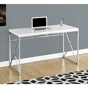 Amazon Com Monarch I 7205 Chrome Metal Computer Desk 48