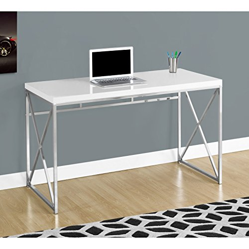 Monarch I 7205 Chrome Metal Computer Desk, 48
