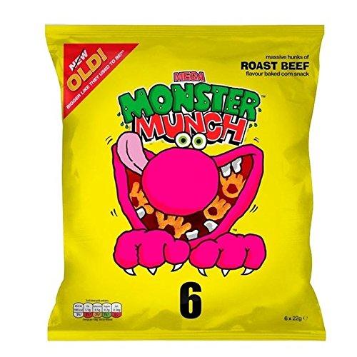 Mega Monster Munch Roast Beef 22g x 6 per pack - Pack of 2 (Best Roast Beef In London)