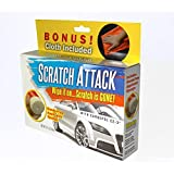Scratch Attack - Car Scratch Remover with hands-free sponge applicator. Instant scratch remover for cars, bikes, motorcycles, appliances. 3oz