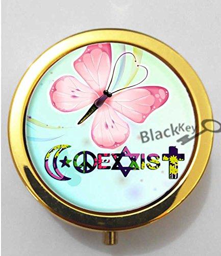 BlackKey Coexist 3-Compartment Decorative Pocket Gift Box Case Organizer for Pill, Color 2 -121