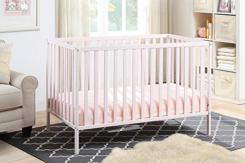Suite Bebe Palmer 3 in 1 Convertible Crib in Pastel Pink - Quick Ship