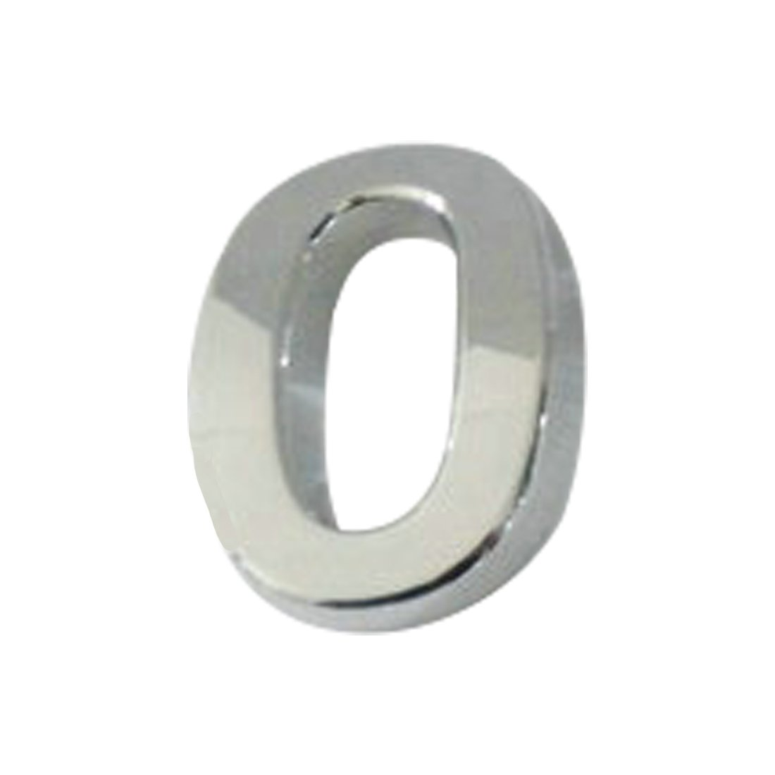 Plaque autocollante en chrome plaqué , compatible pour numé ro de porte, voiture, adresse, chiffres, numé ro 0, 0 Luwu-Store
