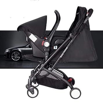 QZX Silla de Paseo 3 en 1 Cochecito de bebé Ligero Cochecito de Viaje para bebé con Asiento Ajustable liviano Fram,Black: Amazon.es: Deportes y aire libre