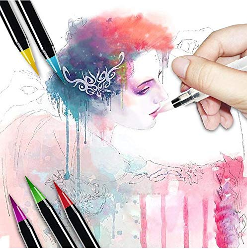 20 Pieces Color Brush Pens Set Watercolor Brush Pen Color Markers for Painting Cartoon Sketch Calligraphy Drawing Manga Brush        Amazon imported products in Karachi