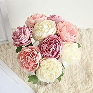 Balalei Handmade Bridal Bouquet Wedding Centerpiece Artificial Wedding Decor Flowers Roses DIY Bridesmaid Wedding Party Accessory 53