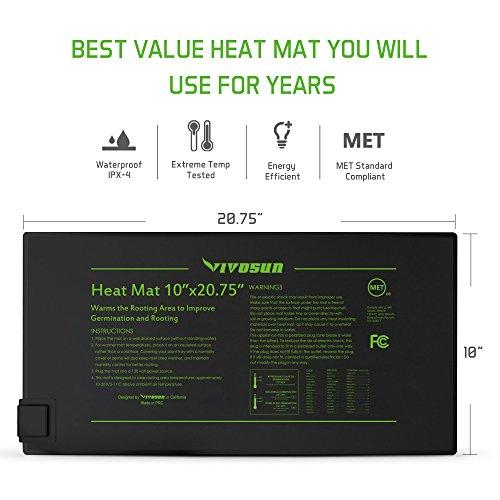 VIVOSUN Durable Waterproof Seedling Heat Mat