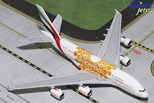 GeminiJets Emirates A380 A6-EOU Expo 2020 1:400 Scale Diecast Model Airplane (Emirates 1 400)