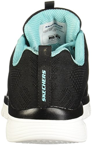 Skechers Graceful-Get Connected, Zapatillas para Mujer Black/Turquoise Trim