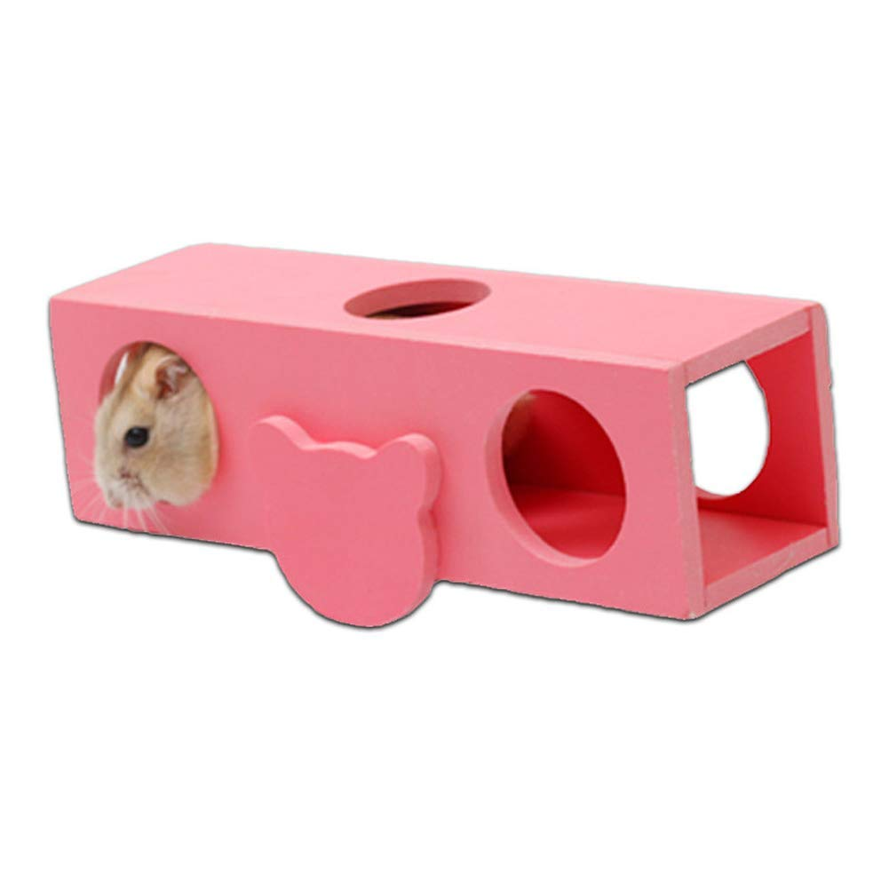 Yevison Pet Toy Tilting Bucket Hamster Seesaw Toy Small Pet Supplies Ecological Wooden Molar Toy