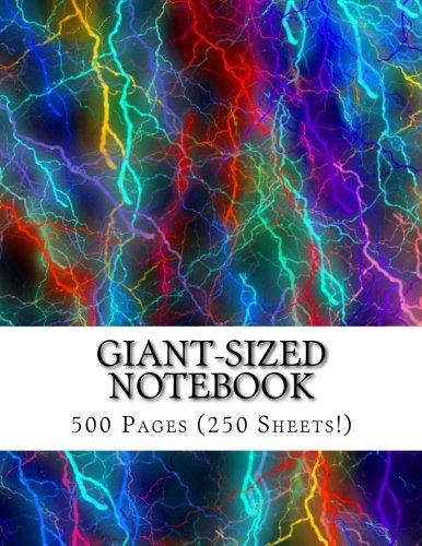 Giant-Sized Notebook: Giant-Sized Notebook/Journal with 500 Lined & Numbered Pages: Lightning Flashes Cover Design Composition Notebook (8.5 x 11/250 Sheets) pdf epub