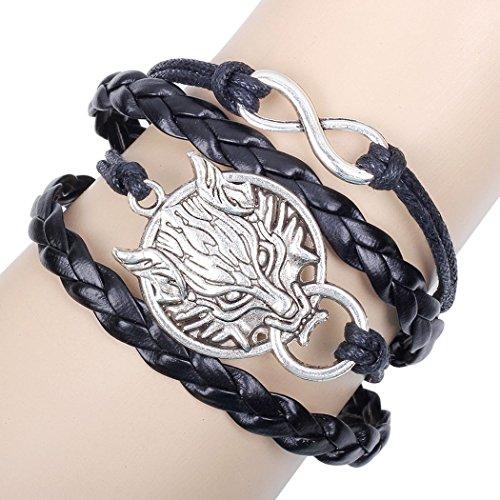 Desklets Boys / Girls Fashionable Vintage Multilayer Woven Rope Wrap Bangle Elegant Alloy Charm Bracelets(Dragon) - Wizard Of Oz Diy Costumes