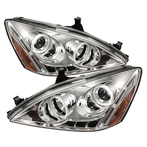 Spyder Auto Honda Accord Chrome CCFL Halogen LED Projector Headlight