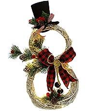 Kerst Decoratie Kerst Krans Hanger Led Licht Krans Hanger Kerst Supplies