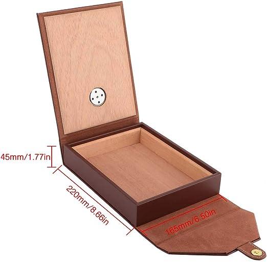 Caja de cigarros Humidor de Madera Caja de cigarros portátil de Cuero de Cedro Contenedor de Almacenamiento(Brown): Amazon.es: Hogar