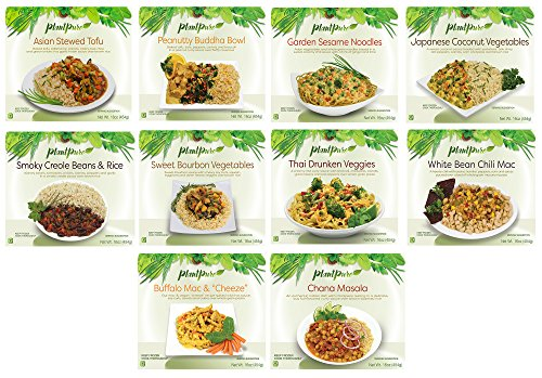 Plantpure International Collection  10 Frozen Vegan Entrees  One Of Each Entree
